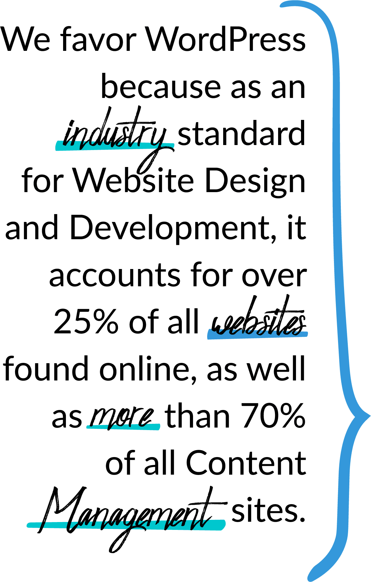 We favor Wordpress Design
