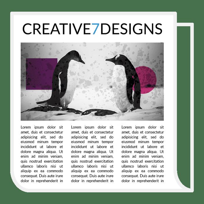 creative 7 designs newspaper design