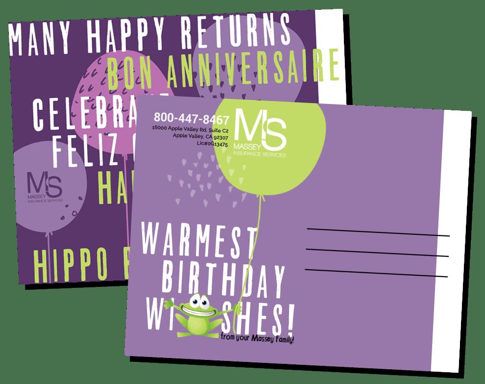 birthday post card