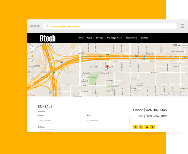 BTECH Website Design and Development by Creative 7 Designs