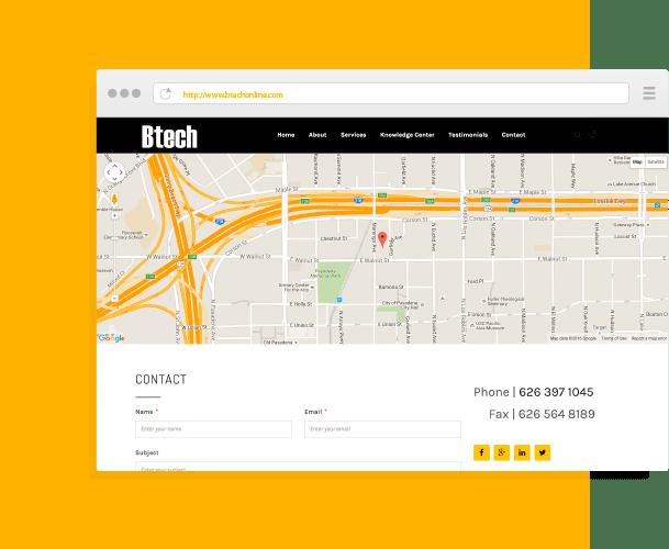 BTECH Website Design and Development by Creative 7 Designs