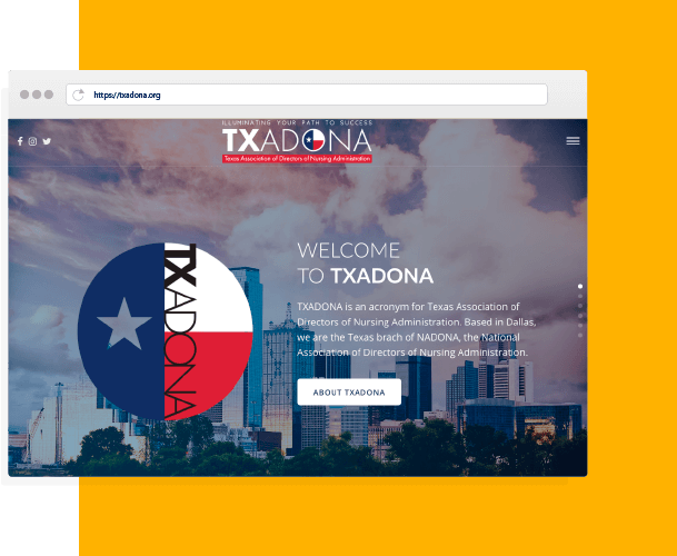 TXADONA website design by creative 7 designs