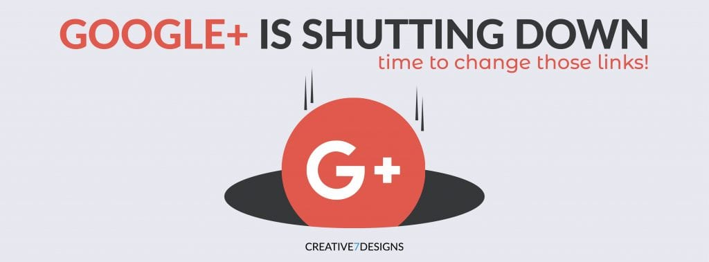 Google Plus is Shutting Down - Time to change those links!