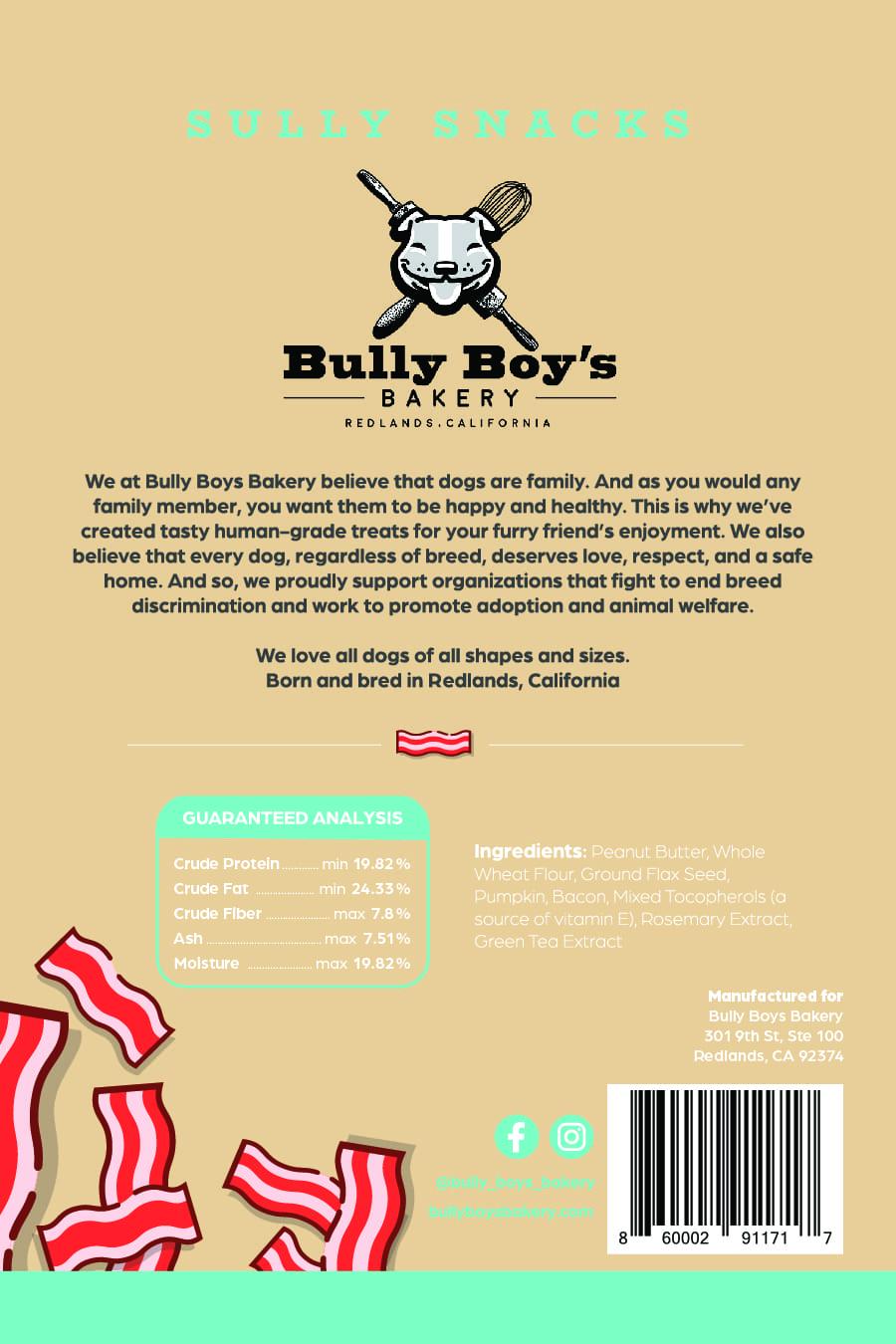 Bully Boys Sully Snacks-Package design BACK_bully boys-Sully Snacks BACK